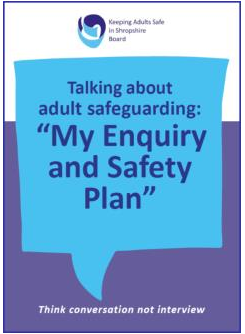 My Enquiry and Safety Plan Cards - Think Conversation not Interview